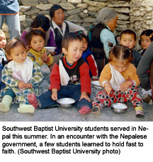 SBU students in Nepal