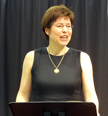 Melissa Rogers speaks to a meeting of the North American Baptist Fellowship in March. (Brian Kaylor/Word&Way)