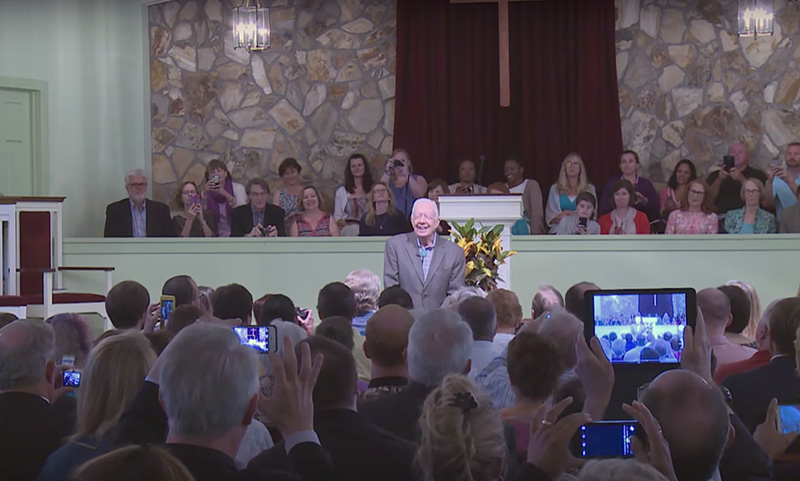 A Bible Study Led By 92 Year Old Jimmy Carter Is A Sight