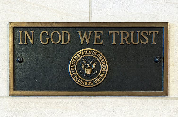 U.S. Capitol 'In God We Trust' plaque. USCapitol
