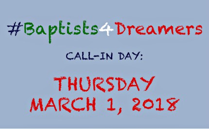 All Baptists are encouraged to sign the statement, call their lawmakers and share the initiative on social media using the hashtag #Baptists4Dreamers.