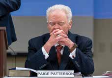 Paige Patterson during a May 22 Southwestern Baptist Theological Seminary trustee meeting. (Adam Covington/ Southwestern Baptist Theological Seminary)